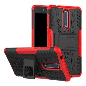 Image 1 - Caso para nokia 7.1 6.1 5.1 3.1 plus x7 x6 x5 à prova de choque silicone armadura caso do telefone para nokia 8 6 5 3 2 1 tpu capa completa volta caso