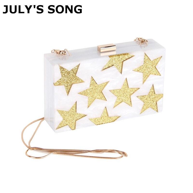 JULY'S SONG, белая акриловая коробка, вечерняя сумка клатч, сумка через плечо с цепочкой, сумка через плечо, сумочка в твердом стиле для свадьбы, в