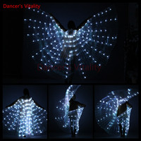 Dancer S Vitality LED Belly Dance Props 8 Color Isis Wings For Dance Free Stick As