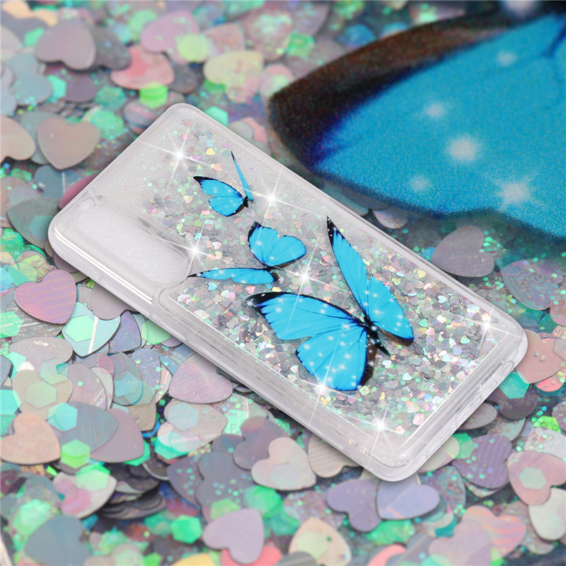 Unicorn Case For Huawei P30 Pro Cases For Huawei P20 Lite Coque On P20 Cover Glitter Bling Dynamic Liquid Silicone Capa