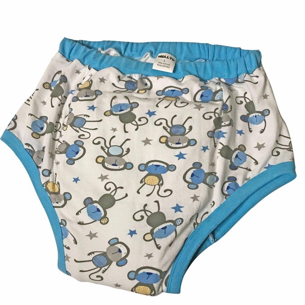 Adulte Bébé Pantalon ABDL Couches Nocturnes DDGL Pantalon En Tissu Petit Singe