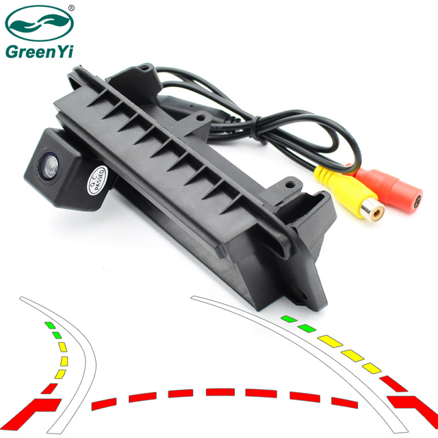 GreenYi Trajectory Car Trunk Handle Rear View Camera for Mercedes Benz C Class W204 Auto Vehicle Backup Reverse Rearview Camera