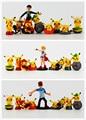 9 pçs/lote Brock Misty Ketchum Pokeball Pikachu Figura Toy frete grátis