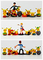 9pcs/lot Pokeball Ketchum Brock Misty Pikachu Figure Toy free shipping