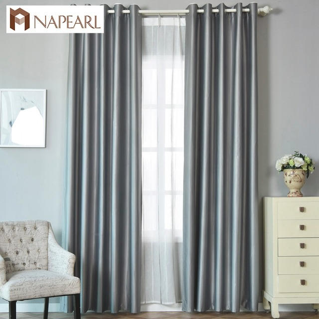 Us 11 88 49 Off Napearl 100 Blackout Curtain Modern Full Shade Bedroom Window Treatment Block Sunlight Darken Room Living Short In