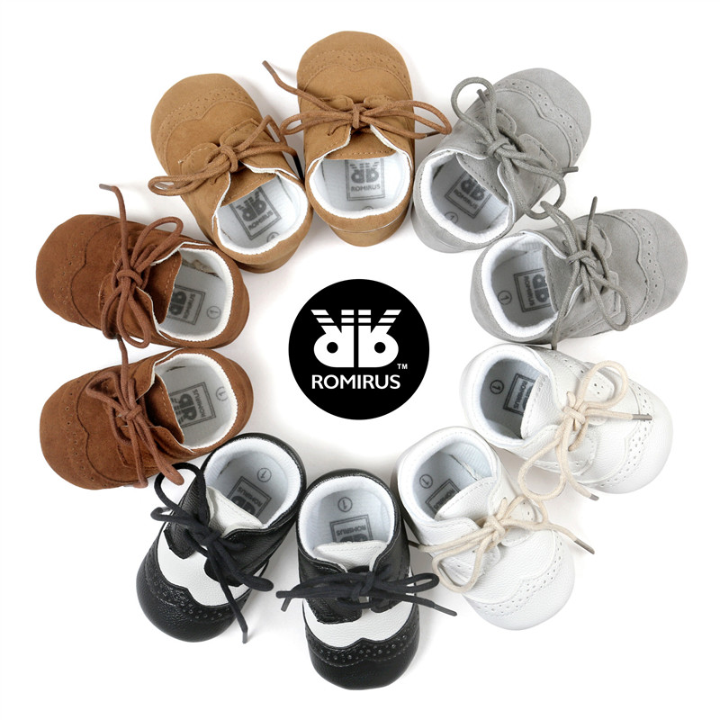 2017 ROMIRUS Gentleman Baby Shoes Soft Sole First Walkers Classic Casual Shoes Baby Moccasins Infant Boys Fashion Sneakers