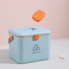 Family Emergency Medicine Storage box Detachable Tray First Aid Container Bin Multi-function family Box D25