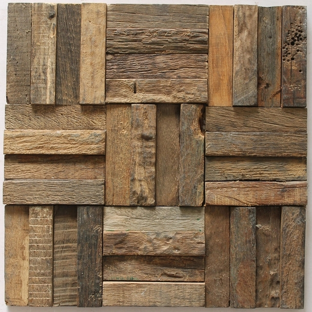 Aliexpress Com Buy Strip Wood Mosaic Rustic Wood