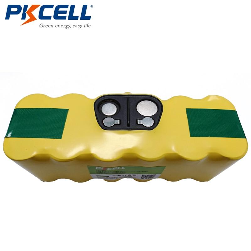PKCELL remplacement NI-MH Batterie sous vide Batterie pour iRobot 500 550 560 570 610 780 14.4 V 3500 mAhPKCELL remplacement NI-MH Batterie sous vide Batterie pour iRobot 500 550 560 570 610 780 14.4 V 3500 mAh