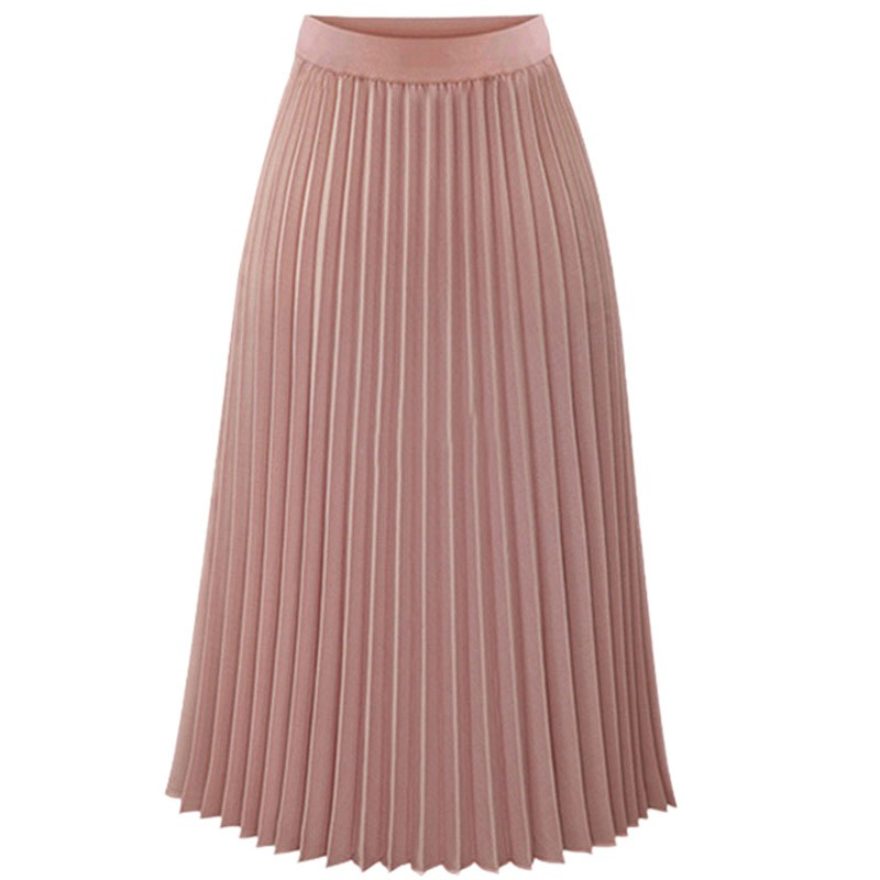 Compare Prices on Pink Chiffon Pleated Skirt- Online Shopping/Buy ...