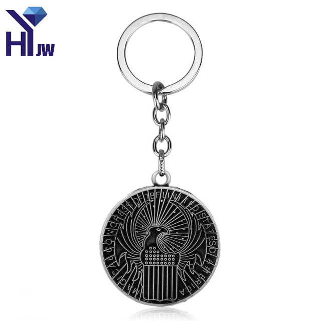 1b711963173 Fantastic Beasts And Where To Find Them MACUSA Logo Keychain Chaveiros  Llaveros Key Chains Key Ring Cosplay Christmas Gift