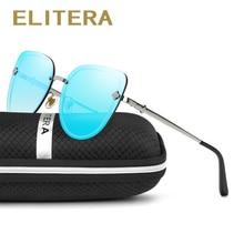 ELITERA Fashion Cat Eye Sunglasses Women Brand Designer Sun Glasses Female Ladies Shades Mirror Eyewear