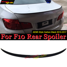 F10 Spoiler Rear Trunk Wing Lip Tail  AEM5 Style Carbon For 520i 525i 528i 530i 535i 535d 550i 2010-16