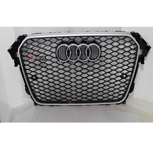 RS4 Style chrome frame black Front Bumper mesh Grill Grille Car styling For Audi A4 B9 2013~2015