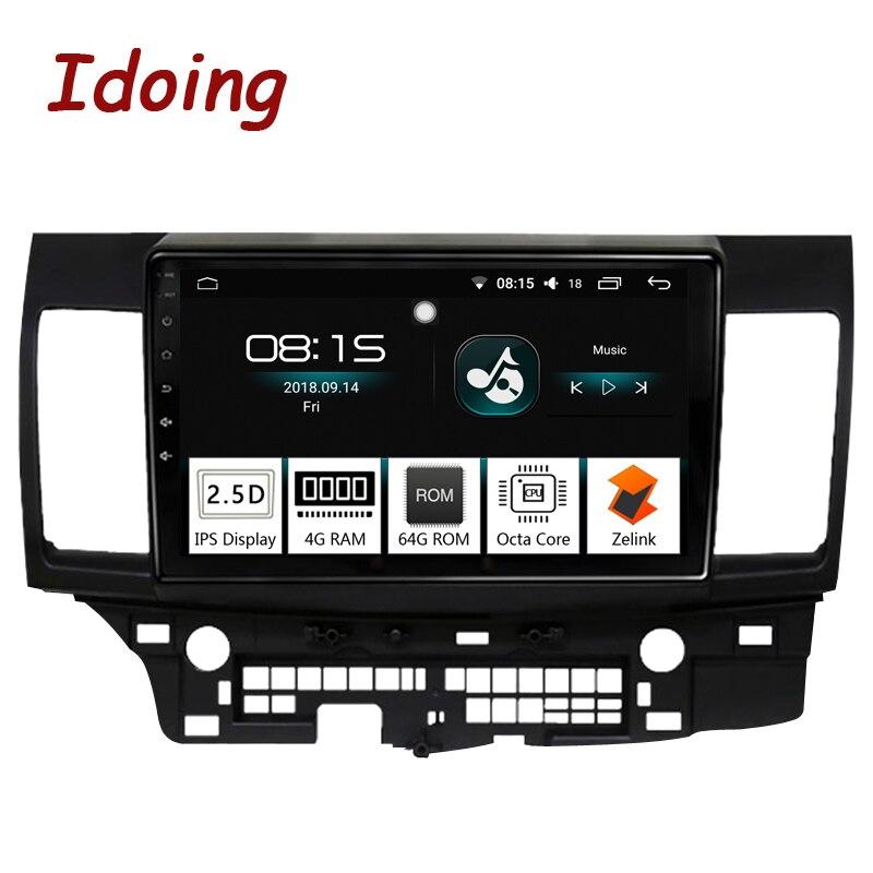 Je fais 10.2 4G + 64G 8 Core Voiture Android 8.0 Radio lecteur Multimédia Fit Mitsubishi Lancer 2010- 2016 2.5D IPS navigation gps PX5 TV