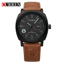 2016 CURREN Luxury Brand Men Quartz Luminous Watch Fashion Sport Leather Strap Wristwatches Relogio Masculino Free Shipping 8139