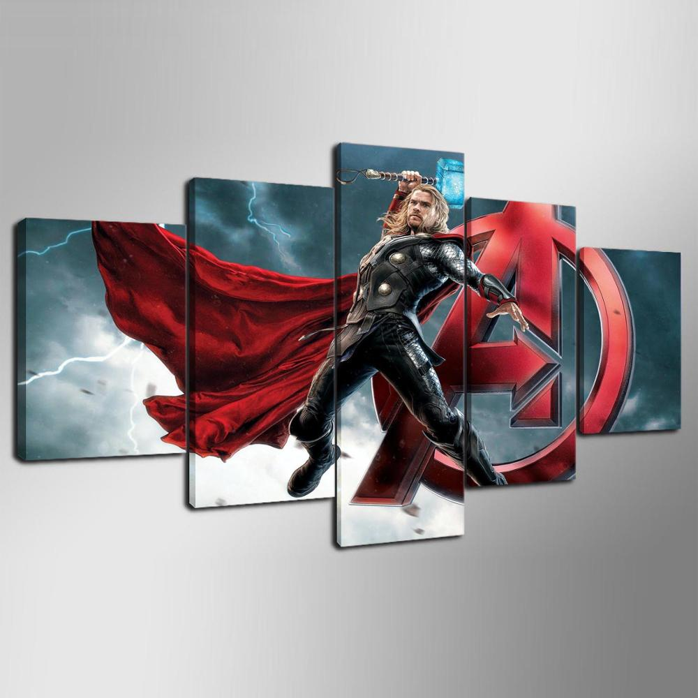 Wall Art Canvas Ready To Hang : Thor hd wall art canvas framed ready to hang for