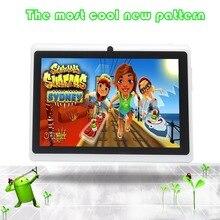 Tablet Android 4.4 Quad Core 16 GB ROM de Doble Cámara de Tablet PC de la Ayuda OTG WIFI Con Multi Color Caliente Nuevo Llegado Flash
