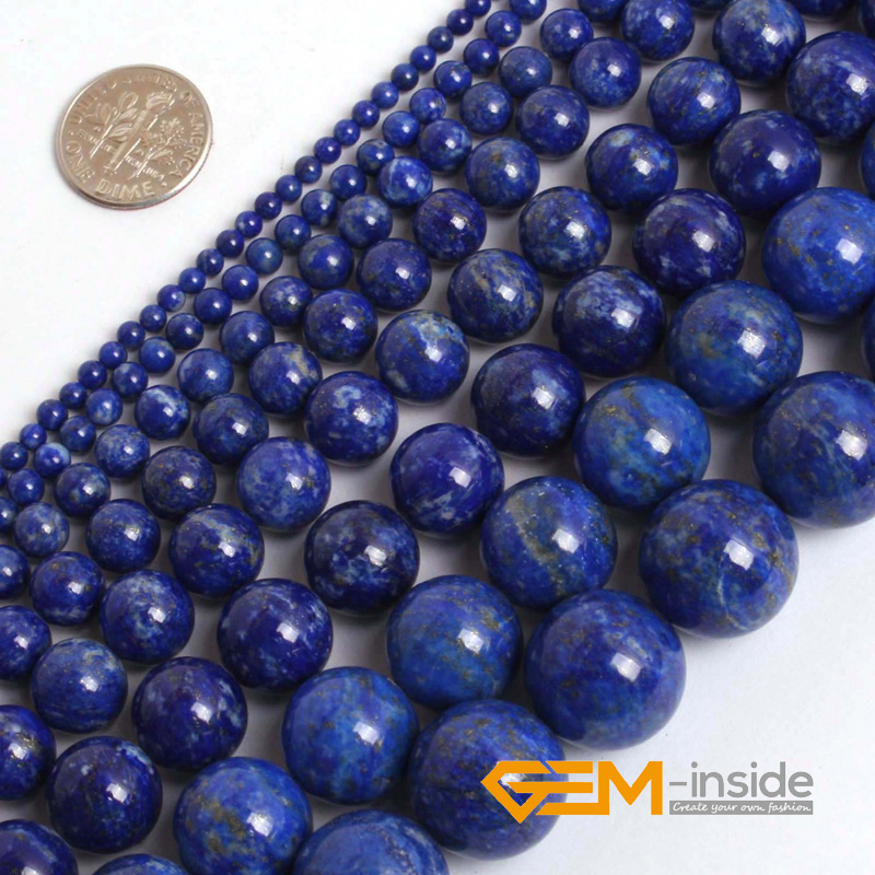 Round Blue Lapis Lazuli Beads Natural Lapis Lazuli Stone DIY Loose Beads For Jewelry Making Beads Strand 15 Inches Wholesale ! fashion natural stone 13x18mm lovely oval lapis lazuli stones beads chain necklace for women party wedding jewelry 18inch my5179