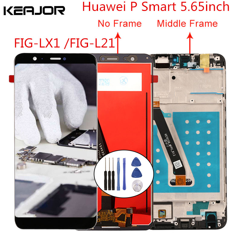 For Huawei P Smart LCD Screen Tested AAA Lcd Display+Touch Screen Replacement With Frame For For Huawei P Smart 2018 5.65''