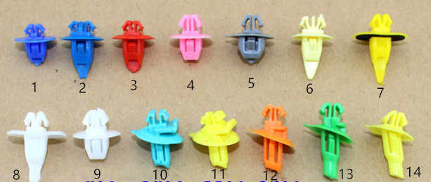15PCS Cars Lined Trim Wheel Eyebrow Fender Plastic Fasteners For Toyota Overbearing Cool Road Chak Land Cruiser Prado