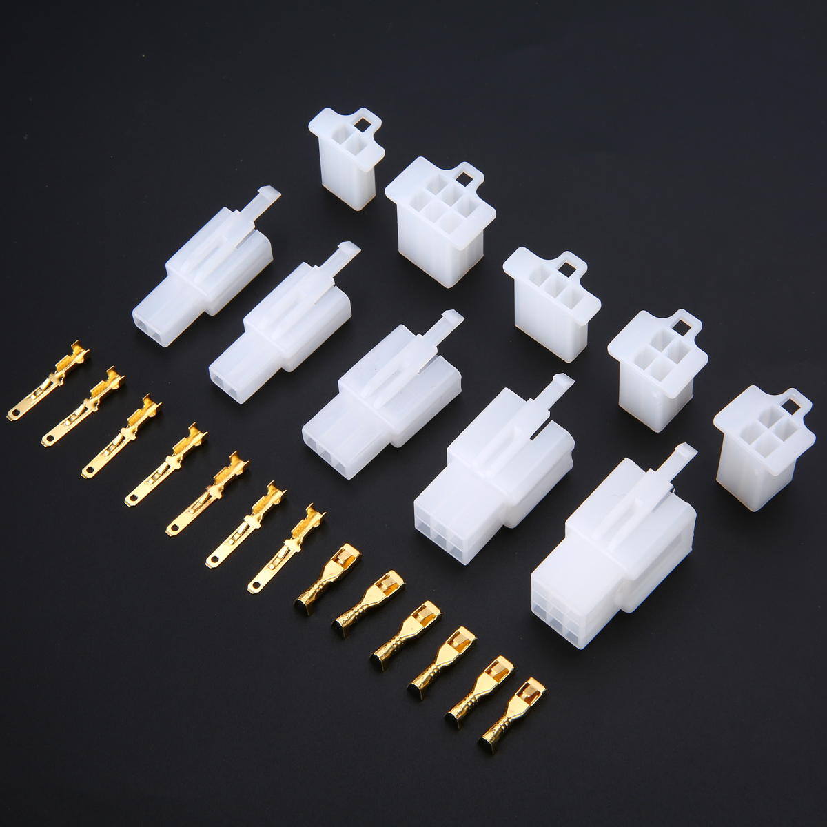 40//Set Motorrad Auto Elektrische 2.8mm 2//3//4//6 Pin Wire Connectors Terminal