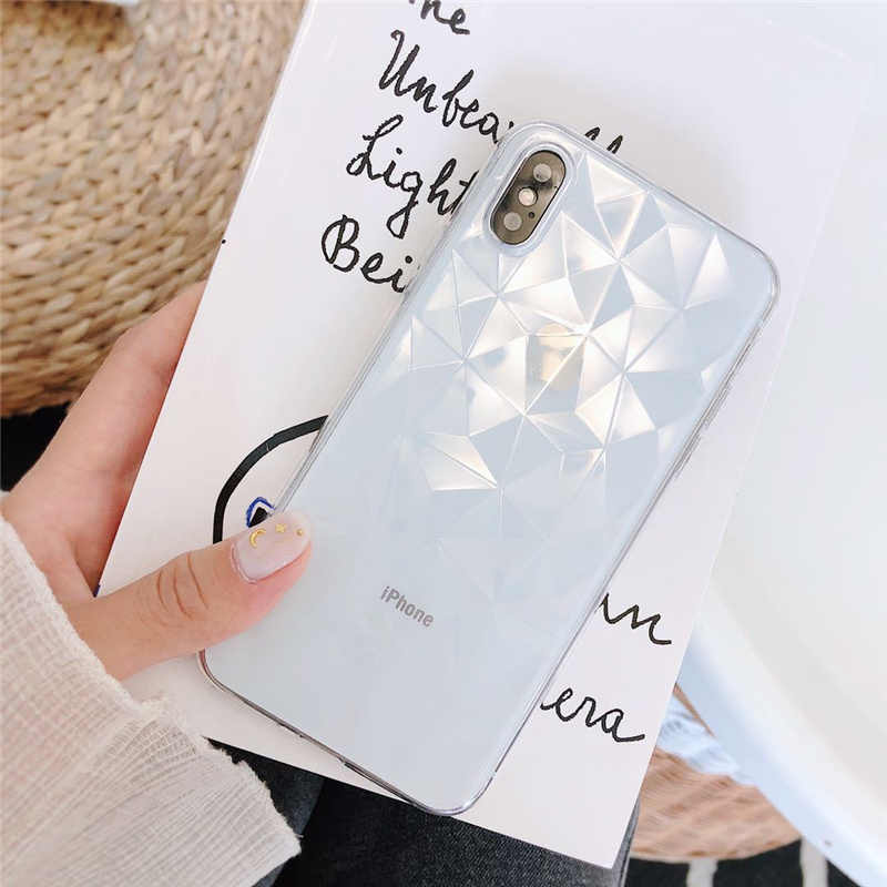Điện Thoại di động Trường Hợp Đối Với Samsung Galaxy S8 S9 Cộng Với S7 Cạnh Lưu Ý 8 9 S7Edge S8Plus S9Plus Note8 Note9 TPU mô hình kim cương Bìa