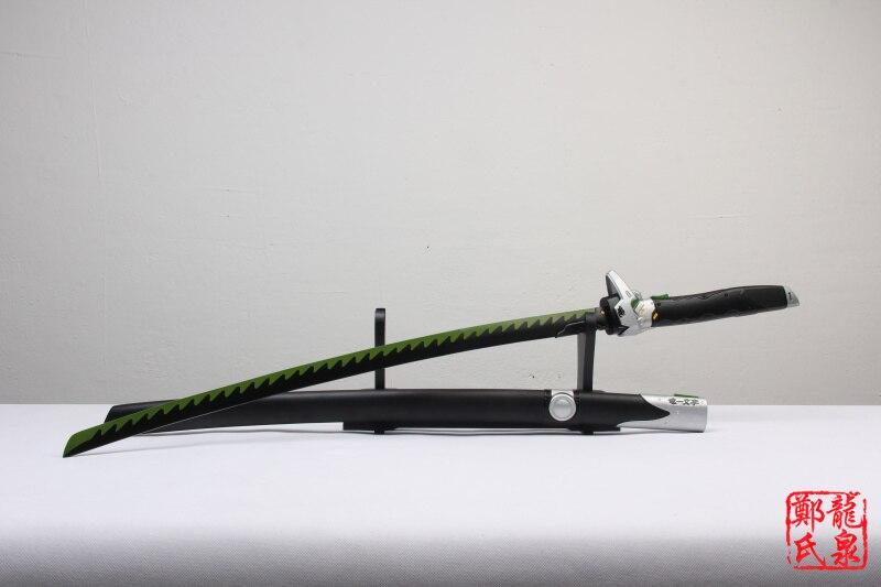 Drachen Klinge Replica Genji Katana Echt Stahl Holz Mantel Für Über Uhr Spiel Waffe Cosplay Prop Dekorative Schwert Keine Sharp-in Schwerter aus Heim und Garten bei  Gruppe 2