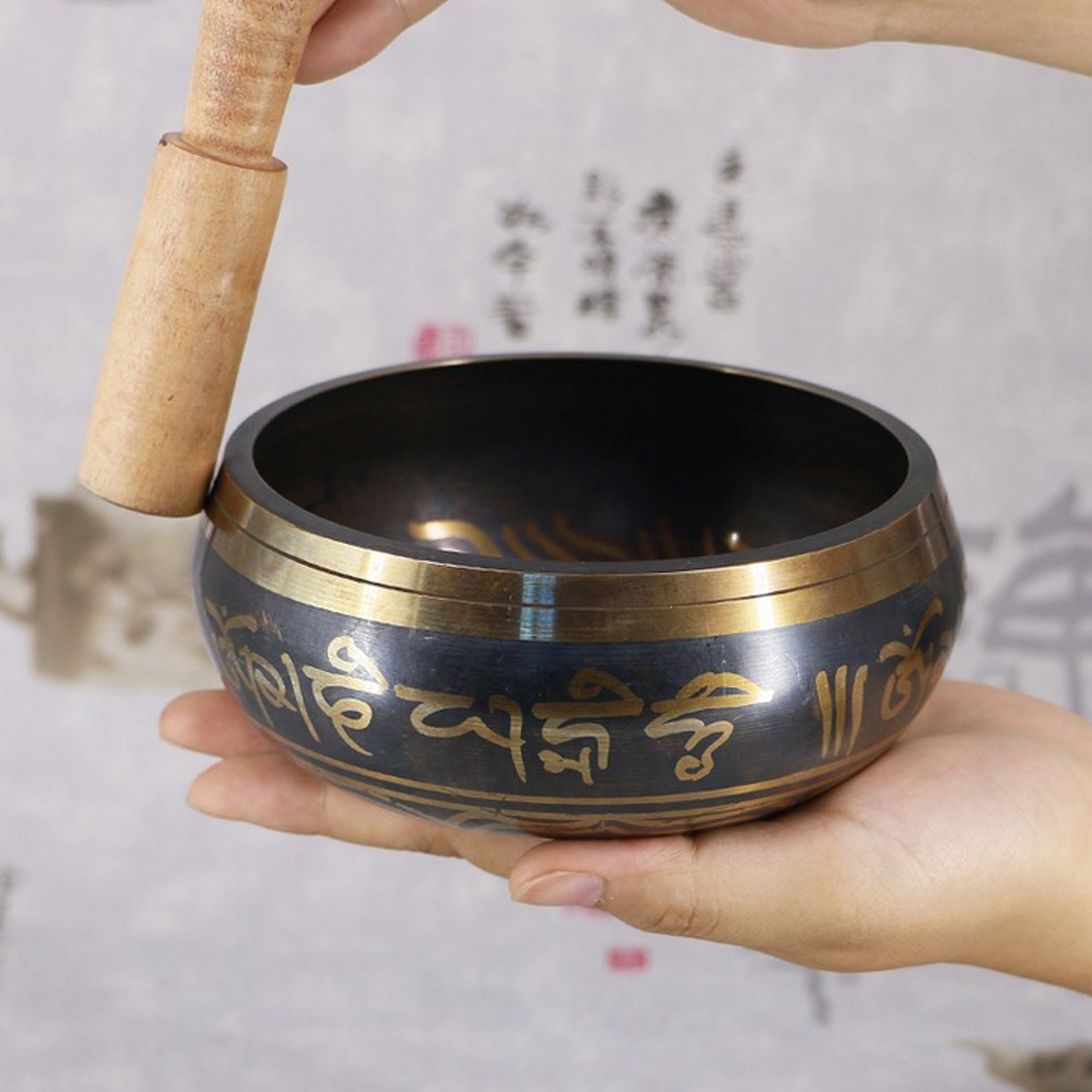 Yoga Tibetan Singing Bowl Decorative-wall-dishes Home Decoration Decorative Wall Dishes Hammered Meditation