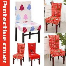 christmas chair covers the range farmhouse dining popular slipcovers buy cheap lots print stretch cover seat hotel banquet housse de chaise armchair elastic office