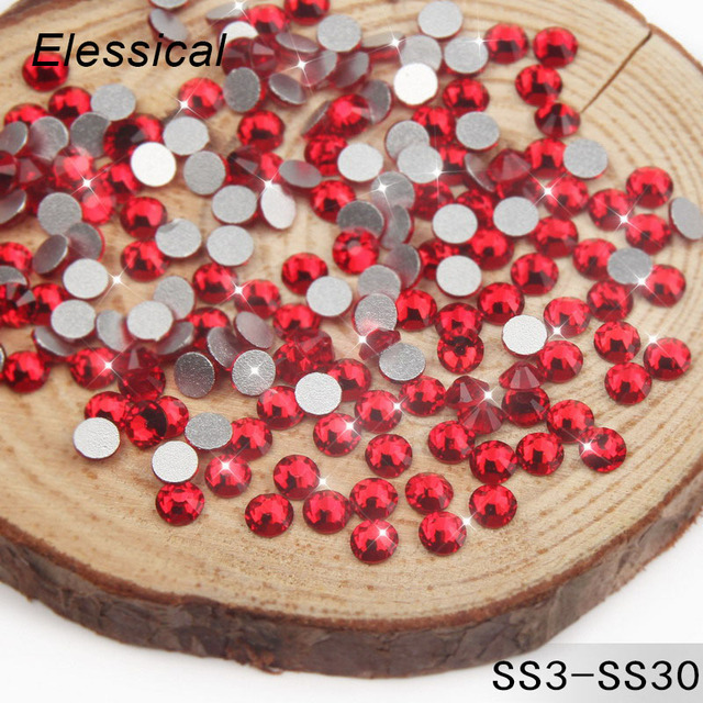 Elessical 1440pcs288pcs Nail Charms Crystal Rhinestone Gems For