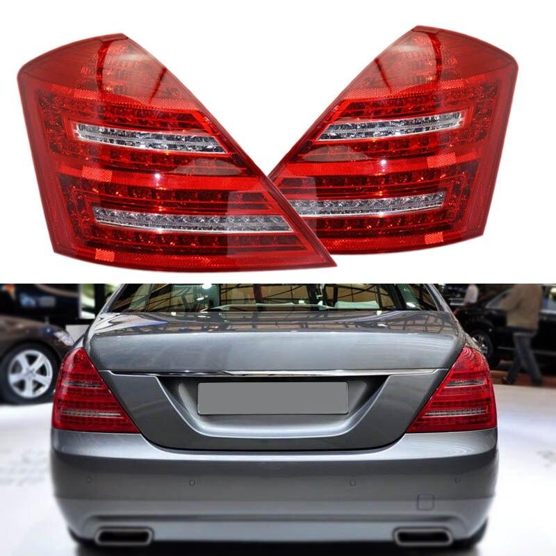 Быстрая доставка светодиодный задний фонарь для Mercedes Benz W221 S Class 2007 2008 2009 сигнал Штропы торможения варниг лампа отражатель автомобиля
