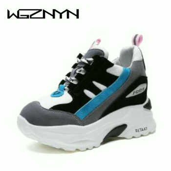 0cdbddc57f3d WGZNYN Для женщин осень повседневная обувь на платформе Модная обувь на  высоком ...