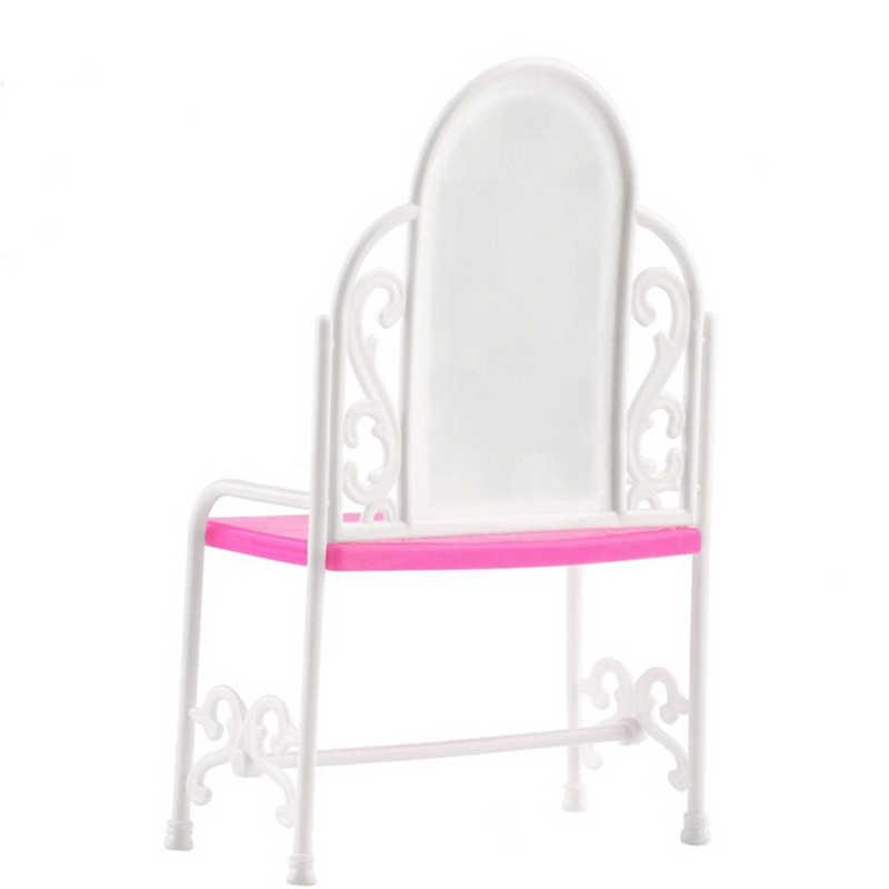 1 Juego de Casa de juegos para niños y niñas, muebles de muñeca, vestidor, conjunto de mesa y sillas para accesorios para Barbie