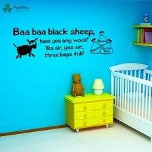 YOYOYU Vinyl Wall Decal Baa Black Sheep Cute Lamb Animal Kids Room Childlike Cartoon Decoration Stickers FD163 simon francesca richardson miranda moo baa baa quack book d earlyreaders