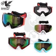 Красочные multi объектив лыжные очки сноуборде мотокросс частей очки на открытом воздухе езда гоночный мотоцикл glasees шлем moto goggle
