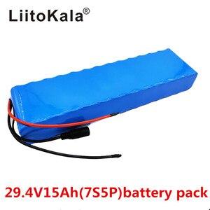 Image 2 - LiitoKala 7S5P 29.4v 15Ah silnik elektryczny rower ebike skuter 24v akumulator litowo jonowy 18650 litowo akumulatory 15A