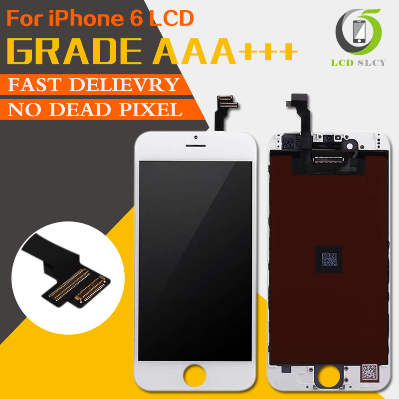 10PCS/LOT 100% Grade AAA+++For iPhone 6 LCD No Dead Pixel Display Replacement Touch Scre ...