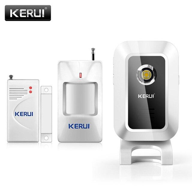 KERUI M7 פעמון ברוכים פעמון אלחוטי אינפרא אדום PIR גלאי תנועת חיישן פעמון אזעקה בברכה כניסת פעמון