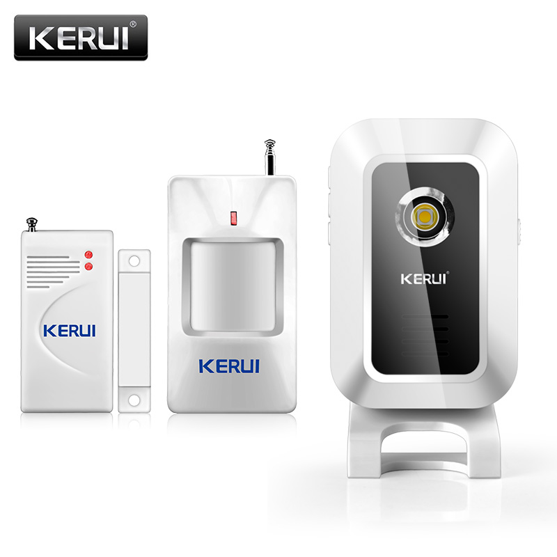 KERUI M7 Welcome Chime Doorbell Wireless Infrared PIR Motion detector Sensor Doorbell Welcome Alarm Entry Doorbell kybq cute android figure style light sensor detector guest welcome doorbell green 3 x aaa