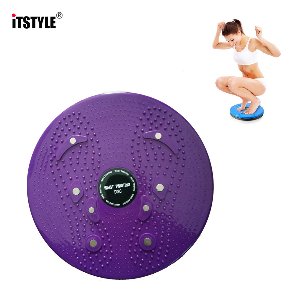 ITSTYLE Fitness Foot Massage Disc Balance Aerobic Exercise  Twisted waist Plate Magnet waist wriggle Plate Disk Twist Board