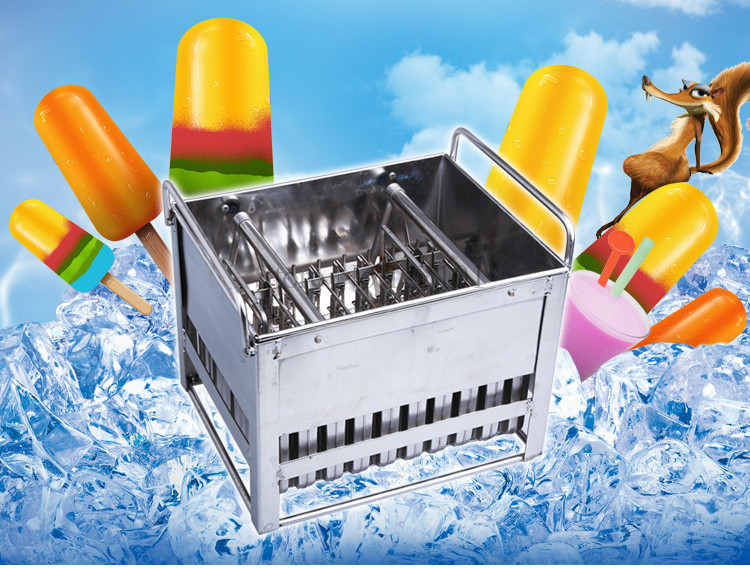 Ice Pop Mold 40pcs/Batch Popsicle Molds Commercial Ice Cream Mold with Stick Holder DIY Ice-lolly Molds ice cream silica gel mold