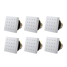 3-6 PCS Square Shaped Brass  Chromed In Wall Shower Spraying Nozzle Jets Bath Spa Massage Body For Bathroom Accessories