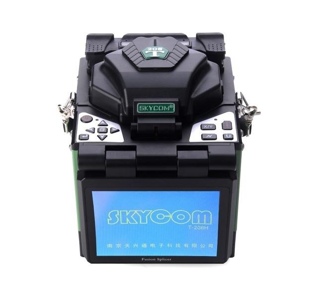 Skycom T-208H Оптическое Волокно Fusion Splicer FTTH-Fiber Optic Welder Ребросклеивающий Станок с Автоматической Тепла Печи