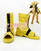 Anime Naruto Cosplay Shoes Naruto Uzumak Boots Custom Made Free Shipping