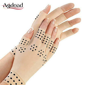 Gloves Magnetic-Therapy Half-Finger Health-Compression Anti-Arthritis 1-Pair