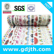2291 novo padrão jiataihe washi fita de impressão colorida fita adesiva washiy máscara fita de arroz japonês atacado 45 pçs/lote