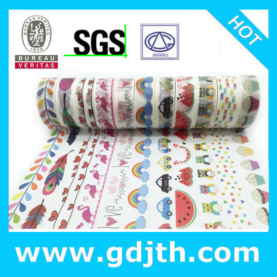 Cinta adhesiva jiataihe para impresión de colores, cinta adhesiva de arroz japonés, 45 unids/lote, 2291