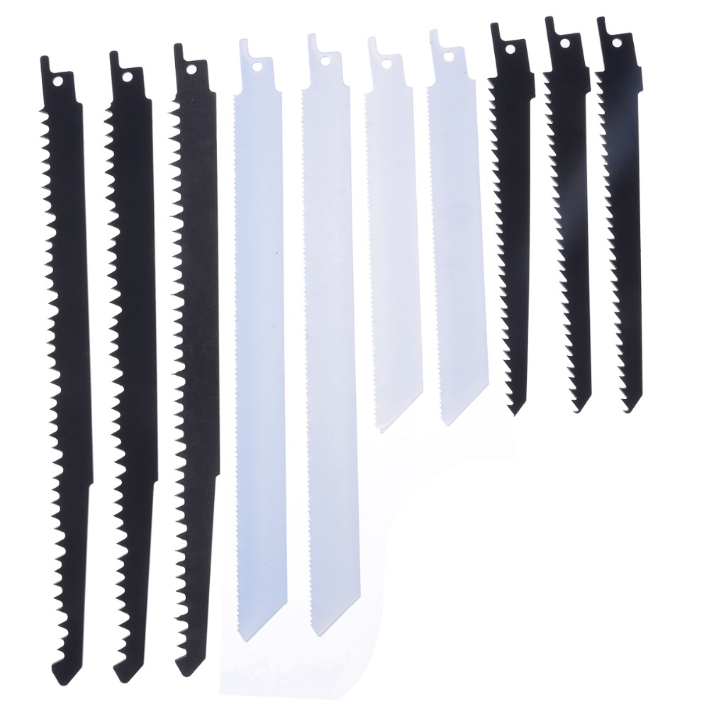 10pcs Durable Saw Blades Reciprocating Sabre Saw Combo Wood & Metal For Bosch Makita Mayitr