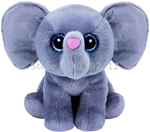 Ty Beanie Babies Whopper Grey Elephant Plush Toy Stuffed Animals